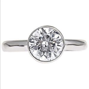 Sterling Forever Silver 925 CZ Engagement Ring 5